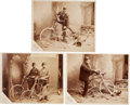 Photography:Cabinet Photos, Trio of Extraordinary Imperial Cabinet Cards Featuring Bicycles,Circa 1890-1900.... (Total: 3 Items)