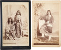 Photography:Cabinet Photos, Pair of Cabinet Photographs of Yuma and Ute Native Women, Circa 1890s.... (Total: 2 Items)