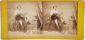 Photography:Stereo Cards, Stereoview: Woman Astride a Velocipede, Circa 1870....