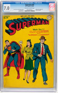 Golden Age (1938-1955):Superhero, Superman #30 (DC, 1944) CGC FN/VF 7.0 Off-white to white pages....