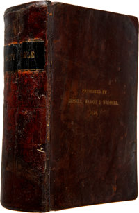 """The Famous 1858 """"Pony Express Bible."""""""