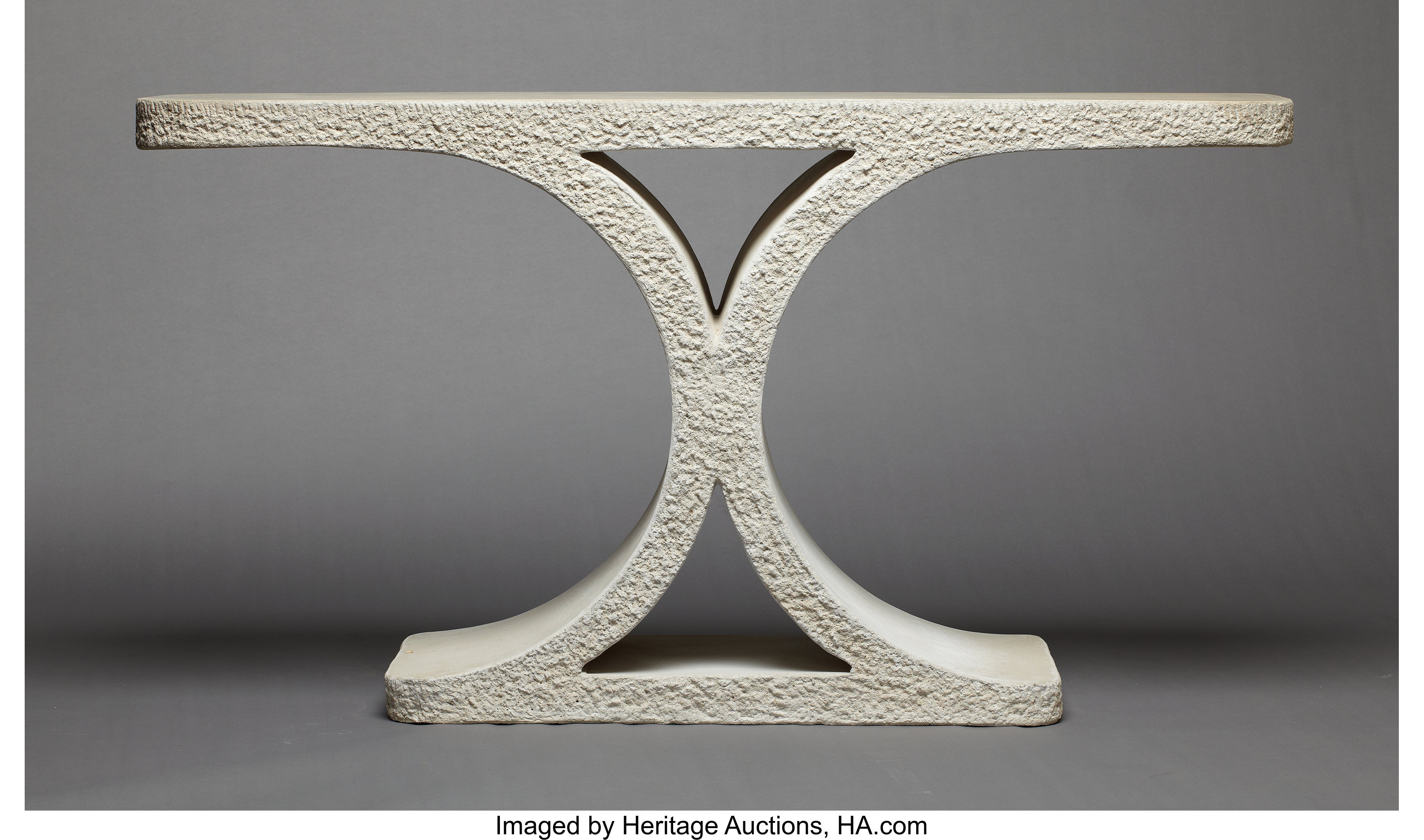 An American Cast Stone Console Table Karl Springer New York Lot 69274 Heritage Auctions
