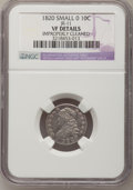 Bust Dimes, 1820 10C Small 0--Improperly Cleaned--NGC Details. VF. JR-11. NGCCensus: (3/208). PCGS Population (5/149). Mintage: 942,58...