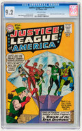 Silver Age (1956-1969):Superhero, Justice League of America #4 (DC, 1961) CGC NM- 9.2 Off-whitepages....
