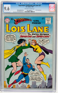 Superman's Girlfriend Lois Lane #21 (DC, 1960) CGC NM+ 9.6 Off-white to white pages