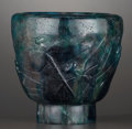 Art Glass:Other , A FRENCH PATE-DE-CRISTAL VASE . François-Émile Decorchmont, France,circa 1930. Marks: Decorchmont (pressed seal mark)...