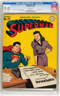 Golden Age (1938-1955):Superhero, Superman #27 (DC, 1944) CGC VF/NM 9.0 White pages....