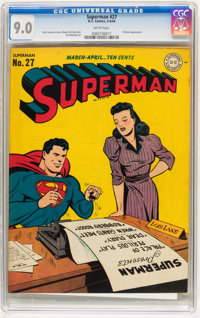 Superman #27 (DC, 1944) CGC VF/NM 9.0 White pages