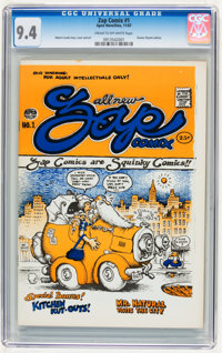 Zap Comix #1 First Printing - Plymell Edition (Apex Novelties, 1967) CGC NM 9.4 Cream to off-white page