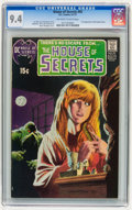 Bronze Age (1970-1979):Horror, House of Secrets #92 (DC, 1971) CGC NM 9.4 Off-white to whitepages....