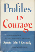 Books:Signed Editions, John F. Kennedy. Profiles in Courage. New York: Harper &Brothers Publishers, [n.d., but after 1956].. Later e...