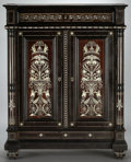Furniture : Continental, AN ITALIAN IVORY INLAID CABINET . Probably Florence, Italy, circa1870-1890. Unmarked. 52-1/2 x 41 x 21 inches (133.4 x 104....