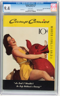 Camp Comics #2 Mile High pedigree (Dell, 1942) CGC NM 9.4 White pages