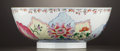 Asian:China Trade, A CHINESE EXPORT PORCELAIN PUNCH BOWL . China, 20th Century.Unmarked. 6 x 14-1/2 inches (15.2 x 36.8 cm). ...