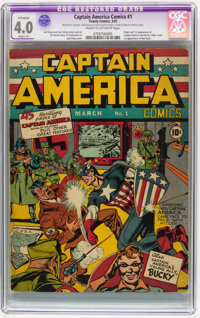 Captain America Comics #1 (Timely, 1941) CGC Apparent VG 4.0 Slight (A) Cream to off-white pages