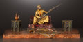 Paintings, A VIENNESE COLD PAINTED BRONZE FIGURAL INKWELL ON GRANITE BASE . Franz Bergman, Vienna, Austria, circa 1880-1890. Marks: B...