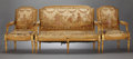 Furniture : French, A FRENCH LOUIS XVI-STYLE GILT WOOD SETTEE AND TWO ARMCHAIRS .Probably French, circa 1890. Unmarked. 40 x 54-3/4 x 24-1/2 in...(Total: 3 Items)