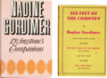 Books:Signed Editions, Nadine Gordimer. Two Signed First Editions, including: Six Feet of Country. London: Victor Gollancz, 1956. Near fine... (Total: 2 Items)