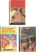 Books:First Editions, J. K. Rowling. Three Harry Potter First Editions, including:Harry Potter and the Goblet of Fire. [and:]  Order ...(Total: 3 Items)