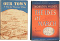 Books:First Editions, Thornton Wilder. Two First Editions, One Signed, including: OurTown. New York: Coward McCann, [1938]. Near fine. [a... (Total:2 Items)