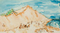 Works on Paper, CHAIM GROSS (American, 1904-2004). At the Beach. Watercolor on paper. 12-1/2 x 22-1/2 inches (31.8 x 57.2 cm). Signed lo...