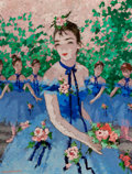 Fine Art - Painting, European:Contemporary   (1950 to present)  , SUZANNE EISENDIECK (German, 1908-1998). The Curtain Call.Oil on canvas. 26 x 21 inches (66.0 x 53.3 cm). Signed lower l...