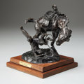 Fine Art - Sculpture, American:Contemporary (1950 to present), FRED FELLOWS (American, b. 1934). End of a Love Affair. Bronze. 10 x 10 x 7 inches (25.4 x 25.4 x 17.8 cm). Ed. 24/100. ...