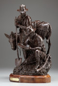 Sculpture, GEORGE B. MARKS (American, 1923-1983). The Fortune Hunters, 1981. Bronze. 20 x 15 x 11 inches (50.8 x 38.1 x 27.9 cm). E...