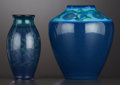 Ceramics & Porcelain, American:Modern  (1900 1949)  , TWO AMERICAN ART POTTERY VASES . Rookwood Pottery, Cincinnati,Ohio, 1918 (large vase), 1920. Marks: (addorsed RP with flame...(Total: 2 Items)