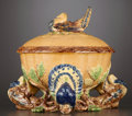 Ceramics & Porcelain, A PORTUGUESE MAJOLICA TUREEN AND COVER . Portugal, circa 1890. Unmarked. 11 x 13 inches diameter (27.9 x 33.0 cm). ... (Total: 2 Items)