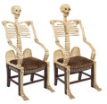 Antiques:Folk Art, Skeleton Armchairs: Remarkable Tour de Force of Wood Carving. ... (Total: 2 Items)