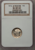 Mercury Dimes: , 1916-S 10C MS65 Full Bands NGC. NGC Census: (68/27). PCGS Population (131/83). Mintage: 10,450,000. Numismedia Wsl. Price f...