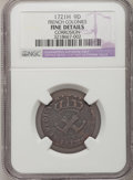 Colonials, 1721-H 9DEN French Colonies Copper Sou--Corrosion--NGC Details. Fine. NGC Census: (0/5). PCGS Population (2/25). (#15...