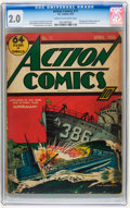 Golden Age (1938-1955):Superhero, Action Comics #11 (DC, 1939) CGC GD 2.0 Cream to off-white pages....