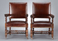 Furniture , A SET OF TEN VICTORIAN OAK CHAIRS . probably England, circa 1890-1900. Unmarked. 39 x 26-1/4 x 25-1/2 inches (arm chair) (99... (Total: 10 Items)