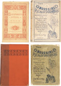 Books:First Editions, James Whitcomb Riley. Four First Editions, including: The BossGirl. Two copies: one in wrappers, one in cloth; both...(Total: 4 Items)