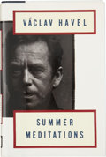 Books:Signed Editions, Václav Havel. Summer Meditations. New York: Alfred A. Knopf, 1992. First American edition. Signed on the half-...