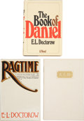 Books:Signed Editions, E. L. Doctorow. Three Signed First Editions, including: The Bookof Daniel. Fine in dust jacket. [and:] Ragtime.... (Total: 3Items)