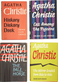 Books:First Editions, Agatha Christie. Eight Books, Most from Collins Crime Club,including: Hickory, Dickory, Dock. [and:] Cat Among ...(Total: 8 Items)