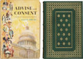 Books:First Editions, Allen Drury. Two First Editions, including: Advise andConsent. Garden City: Doubleday & Company, 1959. Near finein... (Total: 2 Items)