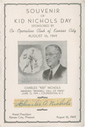 Baseball Collectibles:Others, Kid Nichols Cut Signature....