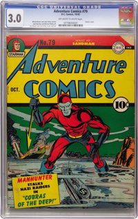 Adventure Comics #79 (DC, 1942) CGC GD/VG 3.0 Off-white to white pages
