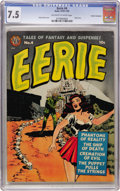 Golden Age (1938-1955):Horror, Eerie #4 Cosmic Aeroplane pedigree (Avon, 1951) CGC VF- 7.5Off-white to white pages....