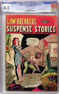 Golden Age (1938-1955):Horror, Lawbreakers Suspense Stories #11 (Charlton, 1953) CGC VG+ 4.5 Creamto off-white pages....