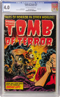 Golden Age (1938-1955):Horror, Tomb of Terror #15 (Harvey, 1954) CGC VG 4.0 Off-white to whitepages....