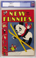 Golden Age (1938-1955):Cartoon Character, New Funnies #72 (Dell, 1943) CGC NM 9.4 Cream to off-white pages.Felix the Cat, Andy Panda, and Raggedy Ann and Andy appear...