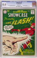 Silver Age (1956-1969):Superhero, Showcase #8 The Flash (DC, 1957) CGC VF 8.0 Off-white pages. ...