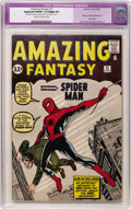 Silver Age (1956-1969):Superhero, Amazing Fantasy #15 (Marvel, 1962) CGC Apparent FN/VF 7.0 Slight (P) Cream to off-white pages....