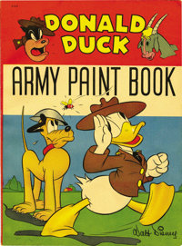 Donald Duck Army Paint Book (Whitman, 1942) Condition: FN/VF