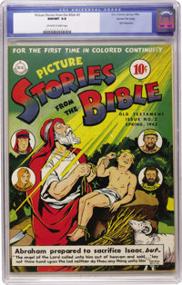 Picture Stories from the Bible Old Testament Edition #3 Gaines File pedigree (DC, 1943) CGC NM/MT 9.8 Off-white to white...